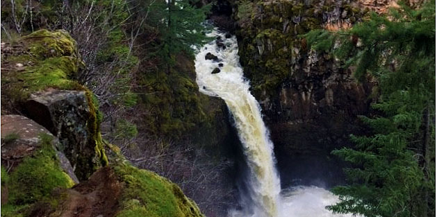 Outlet Falls in Klickitat Community Forest