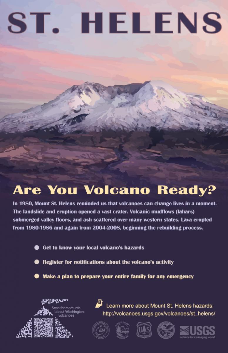 Washington state government for kids - Volcano Preparedness Posters